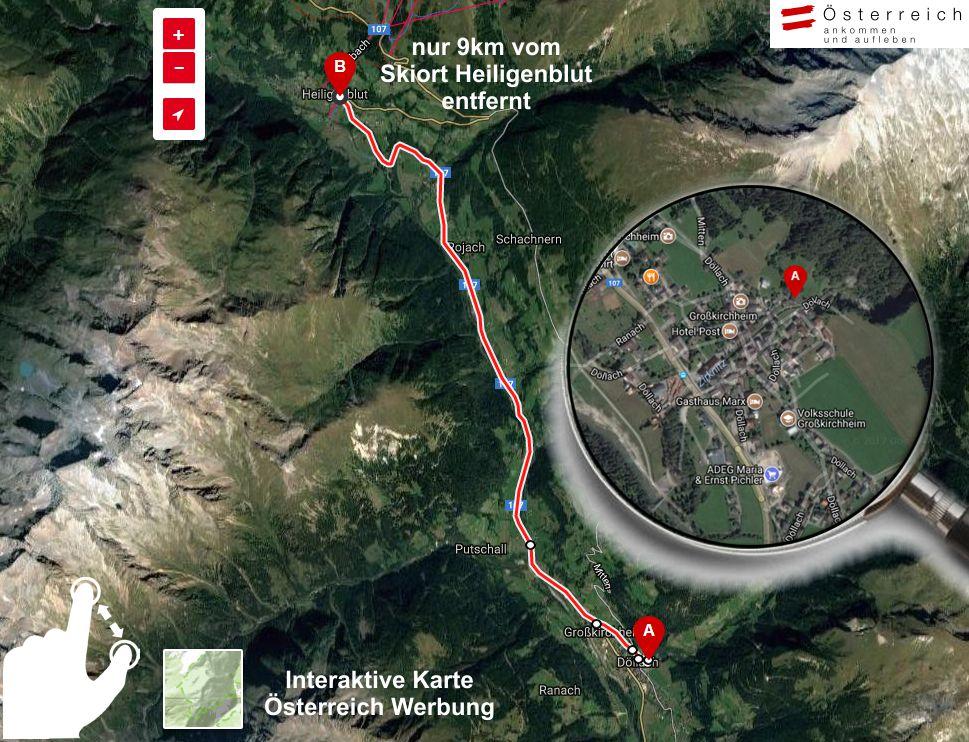 interaktive KArte der Region